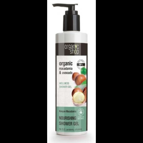 Organiczny nawilżający Żel pod prysznic KENIJSKA MACADAMIA 280ml Organic Shop