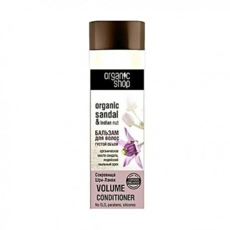 """Balsam do włosów zwiększający objętość """"Skarby Sri Lanki"""" 280ml Organic Shop Data ważności: 01.2020"""