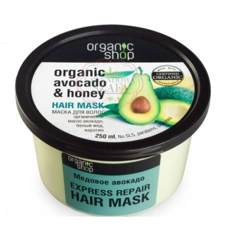 Maska do włosów Avocado i Miód 250ml Organic Shop