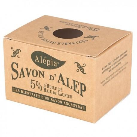 Organiczne Mydło Alep z Aleppo z olejem laurowym 5% 190g Alepia