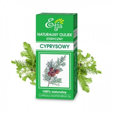 Naturalny olejek eteryczny CYPRYSOWY 10ml Etja