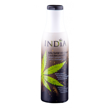 Balsam do ciała z olejem z konopi 400ml India Cosmetics