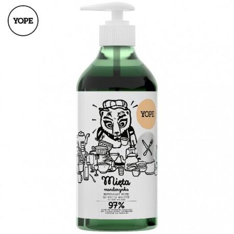 Naturalny płyn do mycia naczyń MIĘTA i MANDARYNKA 750ml YOPE