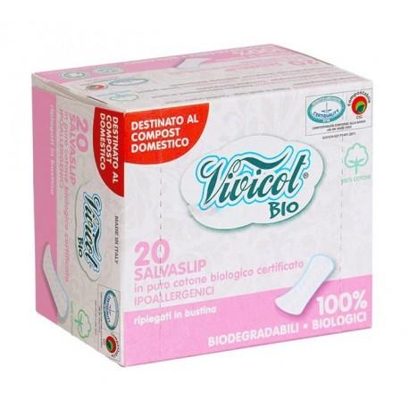 Wkładki higieniczne, SKŁADANE, niebielone chlorem, z CERTYFIKOWANEJ organicznej bawełny 20 szt. Vivicot BIO