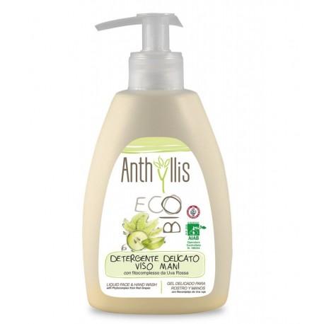 Płyn do mycia rąk i twarzy z fitokompleksem z czerwonych winogron z ekologicznych upraw 250ml Anthyllis