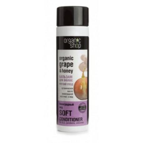 Organiczny balsam do włosów WINOGRONA i MIÓD 280ml Organic Shop Data ważności: 01.2020