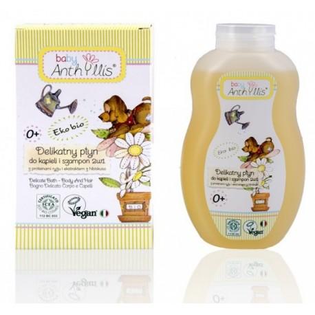 Delikatny płyn do kąpieli i szampon 2 w 1 400ml Baby Anthyllis