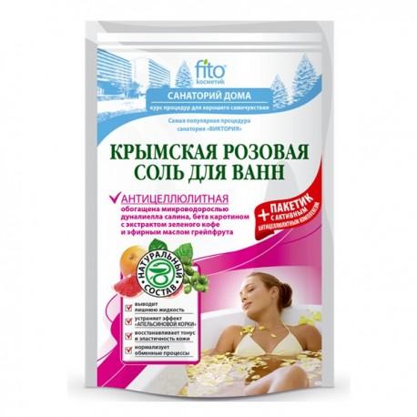 Sól do kąpieli krymska różowa ANTYCELLULITOWA 530g Fitokosmetik