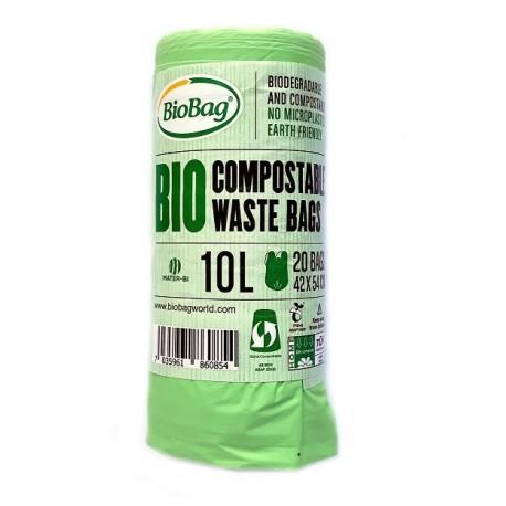 WORKI na odpady ORGANICZNE w 100% BIODEGRADOWALNE i KOMPOSTOWALNE 10l. 20szt. BioBag