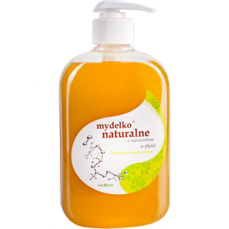 Mydło naturalne z NANOSREBREM 500ml VINSVIN