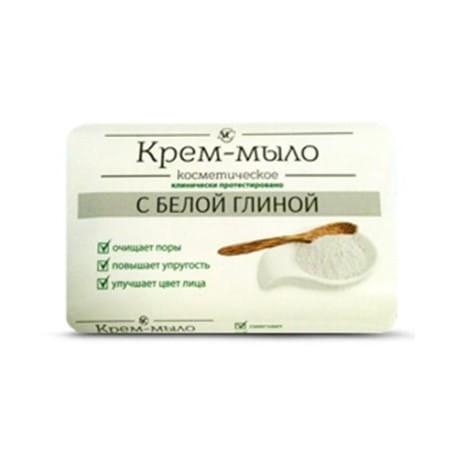 Kremowe mydło do twarzy i rąk z białą glinką dla skóry tłustej i wrażliwej 90g