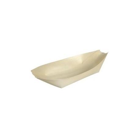 Drewniana miska w kształcie łódeczki Abena Foodservice