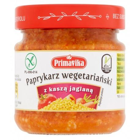 Paprykarz wegetariański z kaszą jaglaną 160g Primavika