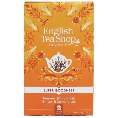 Herbata biała KURKUMA IMBIR Lemongrass 20 saszetek English Tea Shop