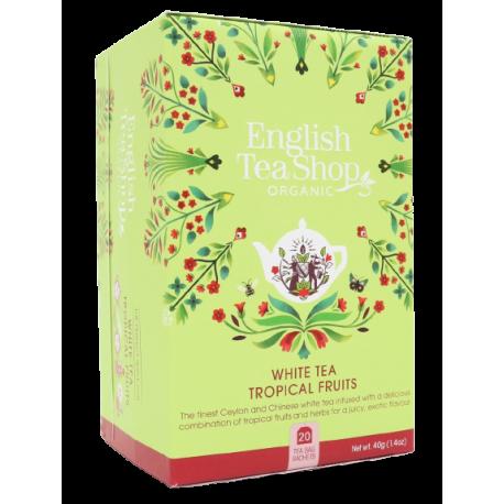 Herbata biała OWOCE TROPIKALNE 20 saszetek English Tea Shop
