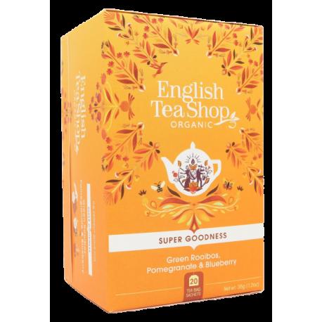 Ekologiczna Herbata zielony ROOIBOS z owocami 20 saszetek English Tea Shop